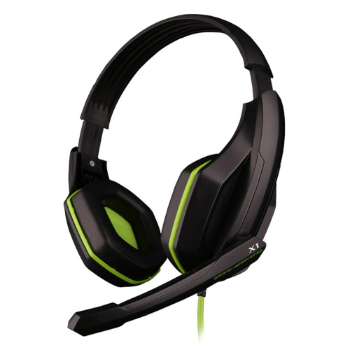 Ovann X1 Professional Esport Gaming Stereo Bass Headset Headphone Earphone Over Ear 3.5mm Wired with Microphone for PC Computer Laptop C3098GR