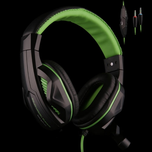 Ovann X2 Professional Esport Gaming Stereo Bass Headset Headphone Earphone Over Ear 3.5mm Wired with Microphone for PC Computer Laptop C3100GR