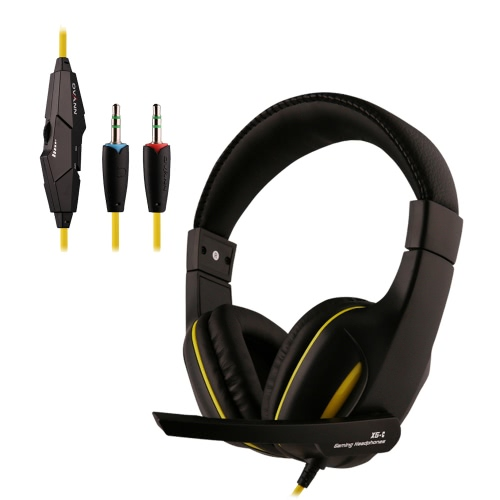 Ovann X5-C Professional Esport Gaming Stereo Bass Headset Headphone Earphone Over Ear 3.5mm Wired with Microphone for PC Computer Laptop C3104B-Y