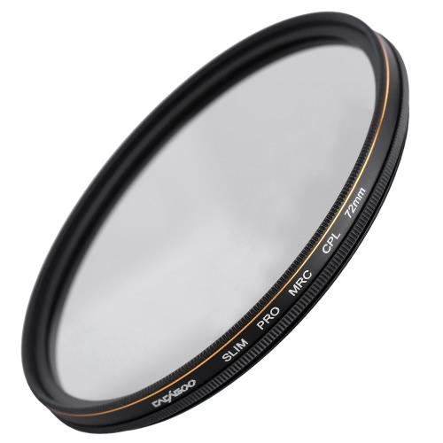CACAGOO 72mm CPL Circular Polarizer Filter Photography