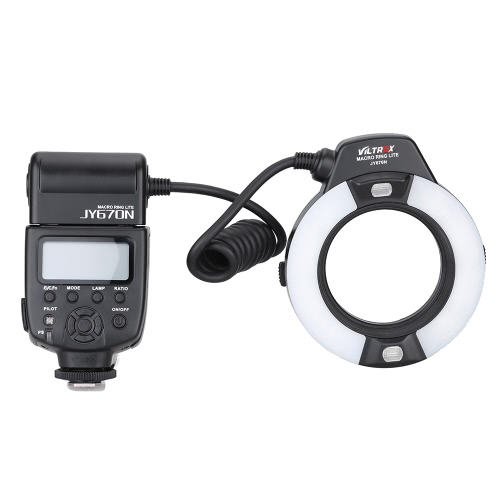 Viltrox JY-670N On-camera i-TTL Macro Close-up Fill-in LED Ring Flash Speedlite Light for D750 D810 D7200 D610 D7000 D5500 D5200 D5300 D3300 D3200 DSLR Camera with Adapter Ring(49mm/52mm/55mm/58mm/62mm/67mm)Ringlight Flashes<br>Viltrox JY-670N On-camera i-TTL Macro Close-up Fill-in LED Ring Flash Speedlite Light for D750 D810 D7200 D610 D7000 D5500 D5200 D5300 D3300 D3200 DSLR Camera with Adapter Ring(49mm/52mm/55mm/58mm/62mm/67mm)<br><br>Blade Length: 16.5cm