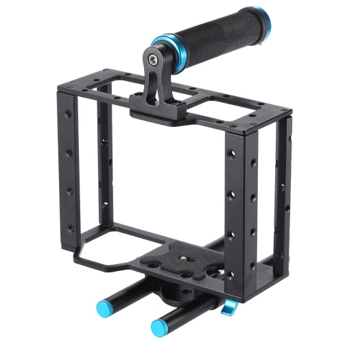 Aluminum Alloy DSLR Video Film Movie Making Kit with Camera Cage Top Handle Grip 15mm Rod Set Matte Box Follow Focus for DSLR Cameras CamcordersAluminum Alloy DSLR Video Film Movie Making Kit with Camera Cage Top Handle Grip 15mm Rod Set Matte Box Follow Focus for DSLR Cameras Camcorders<br><br>Blade Length: 22.5cm