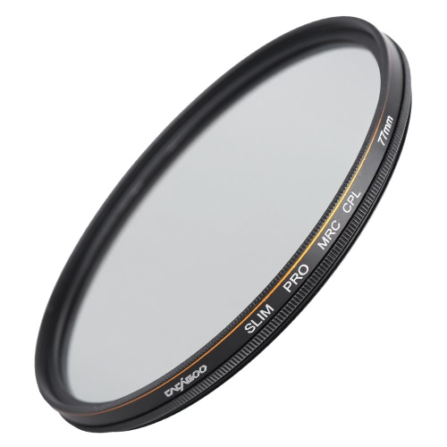 CACAGOO 77mm CPL Circular Polarizer Filter Photography