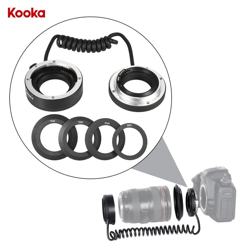 KOOKA KK-AT5A AF Auto Focus Macro Close-up Reverse Adapter Ring Tube for Canon EF-EF-S Mount Lens wi