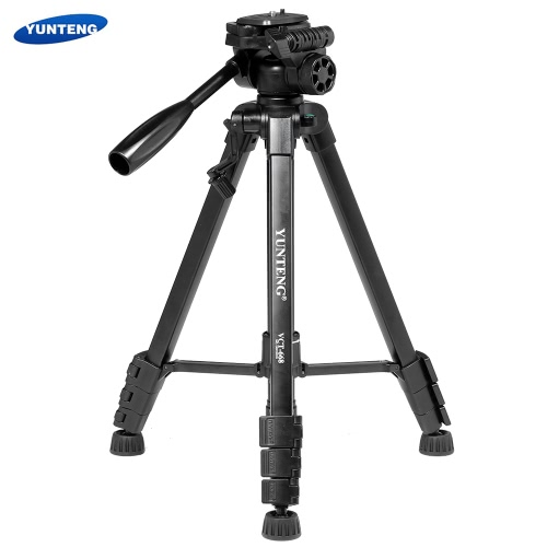YUNTENG VCT-668 Portable Video DSLR Camera Camcorder Tripod Kit with Double Support 360-degree Panoramic Pan Head Quick Realease Plate for Nikon Canon Panasonic Sony Olympus PentaxTripods<br>YUNTENG VCT-668 Portable Video DSLR Camera Camcorder Tripod Kit with Double Support 360-degree Panoramic Pan Head Quick Realease Plate for Nikon Canon Panasonic Sony Olympus Pentax<br><br>Blade Length: 48.0cm