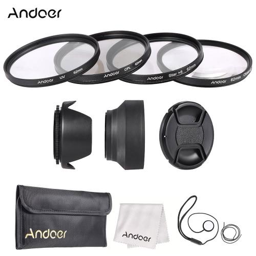 Andoer 62mm Lens Filter Kit with Lens Cap Holder Tulip Rubber Lens Hoods Cleaning ClothFilters kit<br>Andoer 62mm Lens Filter Kit with Lens Cap Holder Tulip Rubber Lens Hoods Cleaning Cloth<br><br>Blade Length: 22.0cm