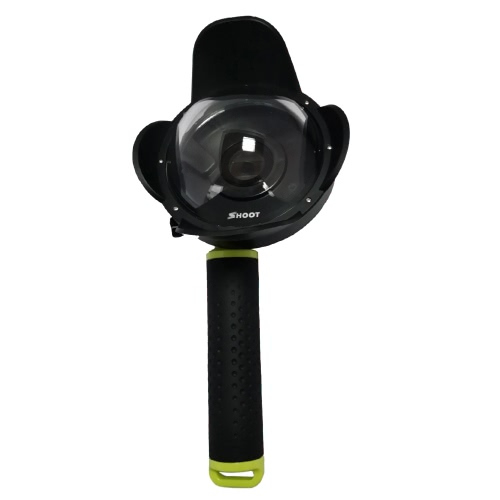 SHOOT Portable Diving Fisheye Dome Port Accessory for Xiaomi Yi Diving Camera Sports Action Cam Underwater Photography Waterproof 40M with Floaty Grip D4191