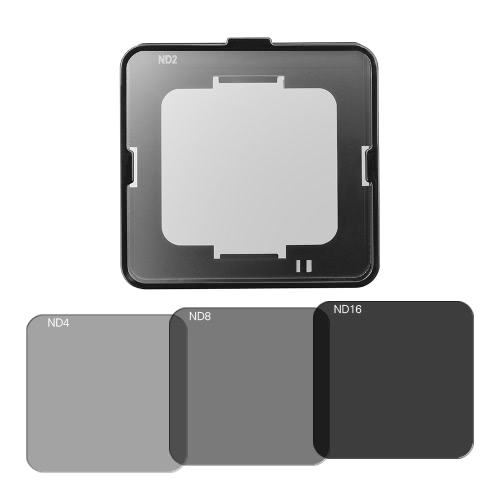 Square ND Lens Filter Protector Kit Set (ND2-ND4-ND8-ND16) for Garmin VIRB Ultra 30 Action Camera w-