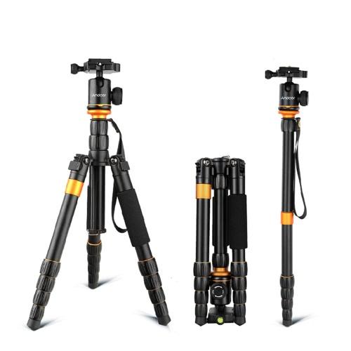 Andoer Professional Foldable Detachable Adjustable Photography Digital Camera Camcorder Video Tripod Monopod Ball Head for Canon Nikon Sony Panasonic DSLR D3122