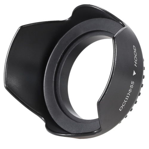 55mm Reversible Universal Flower Type Lens Hood Accessory for Canon Nikon Olympus Sony Camera Camcorder Lenses D3539-2