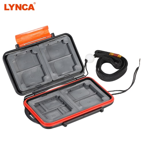 LYNCA Memory Card Storage Box Case Holder Protecter for 4CF+4SD+4XD+4MSPD ABS TPR Material Water-resistant Antiskid Camera Accessary Supply D3546-2