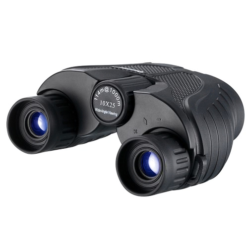 Buy Non-slip Pocket 10 * 25 Rubber Binocular Telescope 8.5u00b0Wide-angle View BAK4 Porro Prism FMC Green Film 114-1000m Field Travel Concert Hunting Party