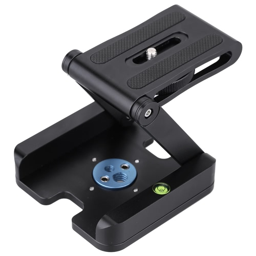 Andoer Z-shaped Aluminum Alloy Foldable Camera Camcorder Desktop Holder Quick Release Plate Tilt Head for Nikon/Canon/Pentax/Olympus DSLR Slide Rail Tripod Stand Movie Film Making Kit Accessories D3343