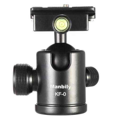 Manbily KF-0 Camera Ball Head Tripod Head Panoramic Head Sliding Rail Head with 2 Built-in Spirit Levels Aluminum Alloy Max. Load Capacity 15Kg D3503