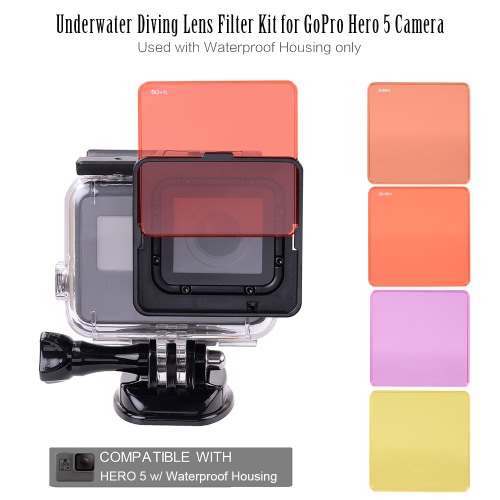 Underwater Diving Lens Filter Kit for GoPro Hero 5 Camera Used with Waterproof Housing onlyUnderwater Diving Lens Filter Kit for GoPro Hero 5 Camera Used with Waterproof Housing only<br><br>Blade Length: 8.5cm
