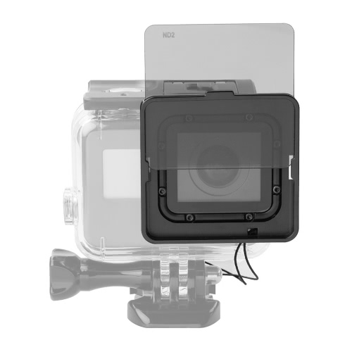 Square ND Lens Filter Protector Kit Set (ND2/ND4/ND8/ND16) with Mounting Frame Holder for GoPro Hero 5 Camera Used with Waterproof Housing onlyND Filters<br>Square ND Lens Filter Protector Kit Set (ND2/ND4/ND8/ND16) with Mounting Frame Holder for GoPro Hero 5 Camera Used with Waterproof Housing only<br><br>Blade Length: 8.5cm