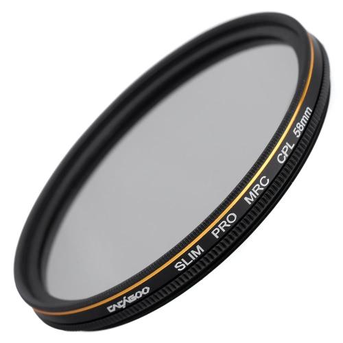 CACAGOO 58mm CPL Circular Polarizer Filter Photography