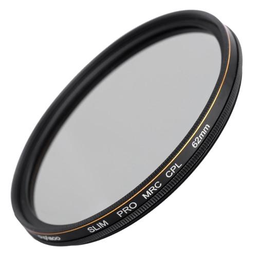 CACAGOO 62mm CPL Circular Polarizer Filter Photography