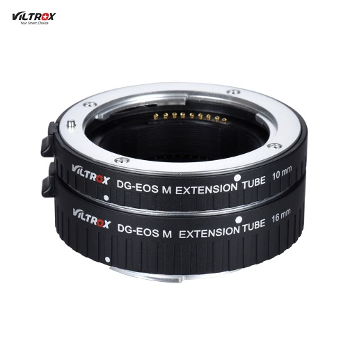 Viltrox DG-EOS M Automatic Extension Tube 10mm and 16mm Auto Focus for Canon EF-M Mount Series Mirrorless Camera and LensMacro Extension Tubes<br>Viltrox DG-EOS M Automatic Extension Tube 10mm and 16mm Auto Focus for Canon EF-M Mount Series Mirrorless Camera and Lens<br><br>Blade Length: 8.5cm