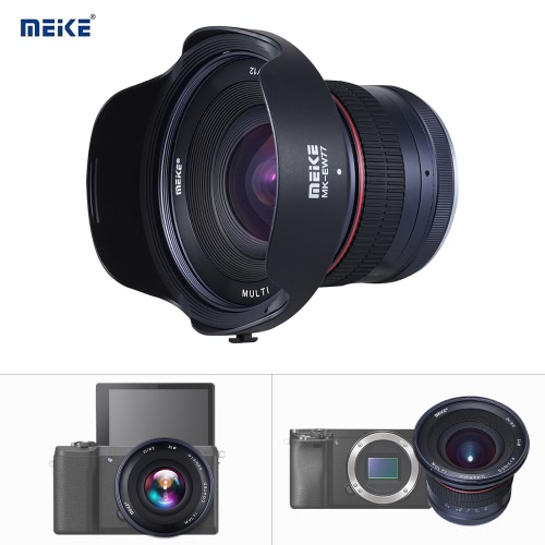 Meike MK-12mm-F2.8 72mm APS-C Wide Angle Manual Focus Fixed Lens for Sony Nex3/5/6/7 A5000/A5100/A6000/A6100/A6300/A6500 ILDC Mirrorless CameraCamera Lenses<br>Meike MK-12mm-F2.8 72mm APS-C Wide Angle Manual Focus Fixed Lens for Sony Nex3/5/6/7 A5000/A5100/A6000/A6100/A6300/A6500 ILDC Mirrorless Camera<br><br>Blade Length: 12.4cm