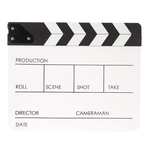 "10"""" * 12"""" / 24.5 * 30cm Acrylic Dry Erase Clapboard Clap-stick Clapper Board Slate for Film Movie Cut Action Scene"" D3499"