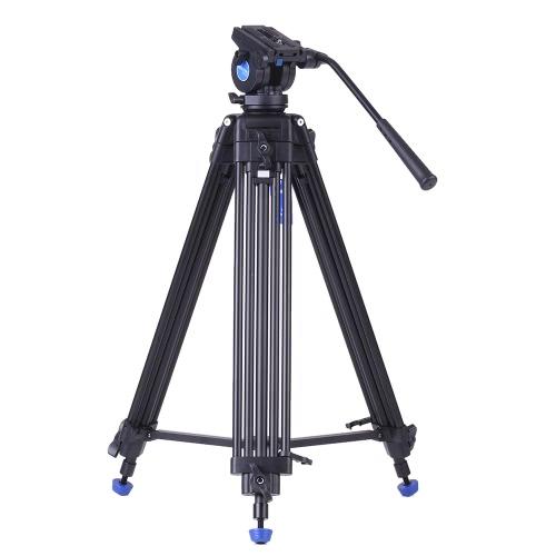 Benro KH25N Professional Video Tripod Aluminum Alloy Video Camera Tripod + Hydraulic Head Kit Max Load 5kg for Canon Nikon Sony Camera Camcorder D3659