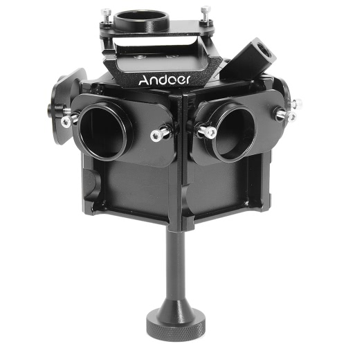 Andoer Action Camera Accessories Aerial FPV 360 Degree VR Full Shot Panorama Panoramic Imaging Photography Video Capture Bracket Cage Monopod for Gopro Hero 3 / 3+ / 4 D3339B