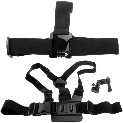 Elastic Chest Strap Head Mount Belt for GoPro HD Hero 1 2 3  3+ 4 with Adjustment BaseWearing Accessories<br>Elastic Chest Strap Head Mount Belt for GoPro HD Hero 1 2 3  3+ 4 with Adjustment Base<br><br>Blade Length: 24.0cm