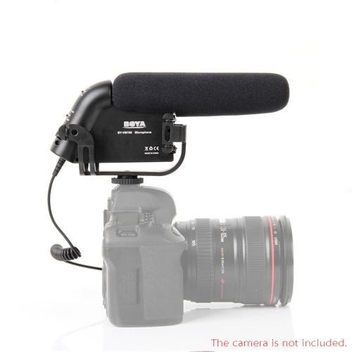 BOYA  BY-VM190 Stereo Video Microphone Microphone with Windshield for Canon Nikon Camera Camcorder