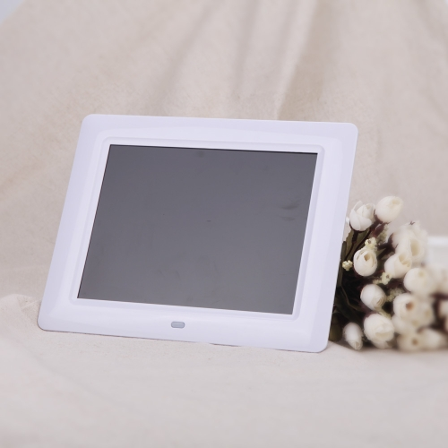7'' HD TFT-LCD Digital Photo Frame with Slideshow Clock MP3 MP4 Movie Player with Remote Desktop D1529W-EU