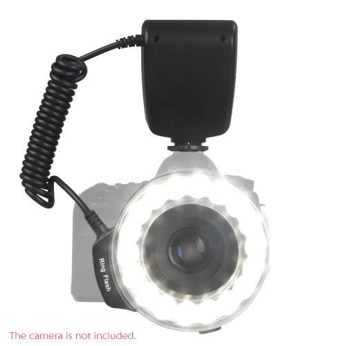 Macro 18PCS LED Ring Flash Light RF600D Speedlite for Nikon Canon Olympus Panasonic DSLR Cameras D1716