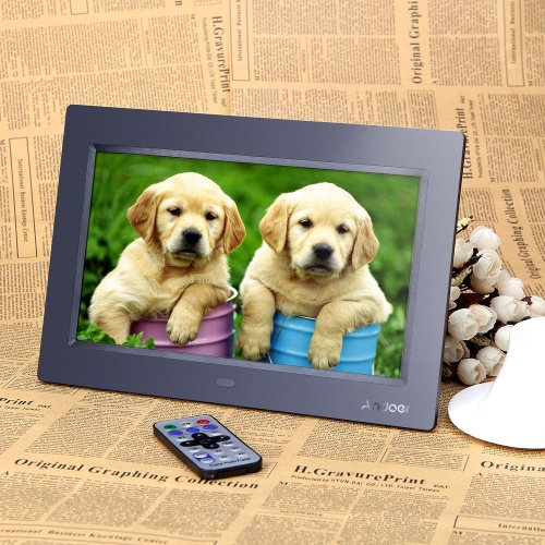 10'' HD TFT-LCD 1024*600 Digital Photo Frame Alarm Clock MP3 MP4 Movie Player with Remote Desktop