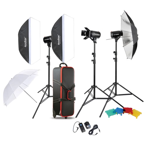 Godox Professional Photography Photo Studio Speedlite Lighting Lamp Kit Set with (3 *) 300W Studio Flash Strobe Light Stand Softbox Soft Reflector Umbrella Barn Door TriggerStudio Light Shed Kits<br>Godox Professional Photography Photo Studio Speedlite Lighting Lamp Kit Set with (3 *) 300W Studio Flash Strobe Light Stand Softbox Soft Reflector Umbrella Barn Door Trigger<br><br>Blade Length: 85.0cm