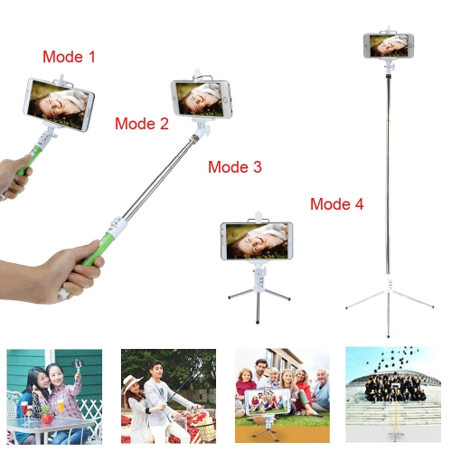 Dispho Multifunctional Lightweight Extendable Wireless Bluetooth Remote Shooting Control Shutter Handheld Selfie Pole Monopod Stick  for iPhone Samsung Sony Smartphone with Mini Tripod D2297GR