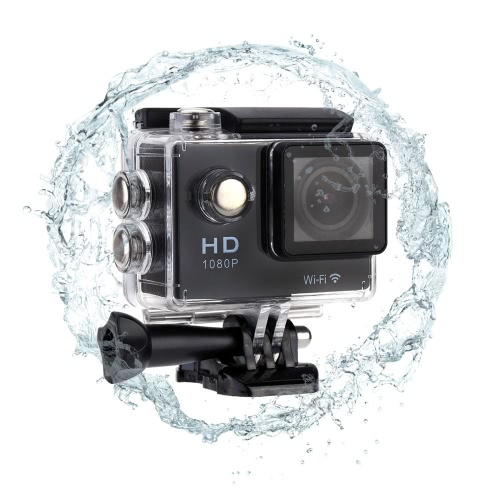 """WiFi Diving 30M Waterproof Sport Action Camera 1080P 2.0"""""""" 170¡ã Wide Angle Lens with Battery Accessories"""" D2370B"""
