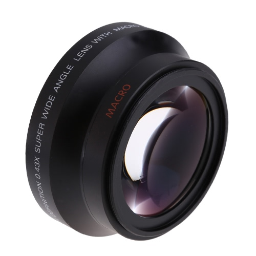 67mm Digital High Definition 0.43¡ÁSuPer Wide Angle Lens With Macro Japan Optics for Canon Rebel T5i T4i T3i 18-135mm 17-85mm and Nikon 18-105 70-300VR D2443