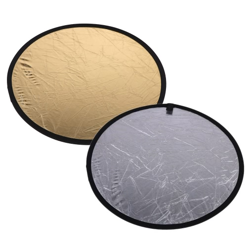 23.6/60cm Handhold Multi Collapsible Portable Disc Light Reflector for Photography 2in1 Gold and SilverReflectors<br>23.6/60cm Handhold Multi Collapsible Portable Disc Light Reflector for Photography 2in1 Gold and Silver<br><br>Blade Length: 23.0cm