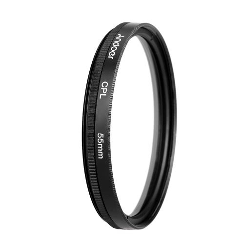 Andoer 55mm UV+CPL+ND8 Circular Filter Kit Circular Polarizer Filter ND8 Neutral Density Filter with Bag for Nikon Canon Pentax Sony DSLR Camera