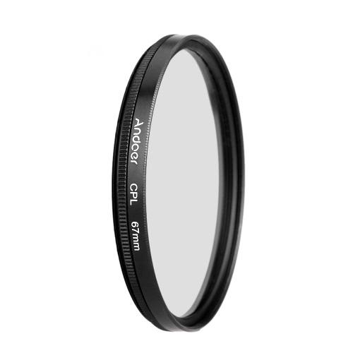 Andoer 67mm UV+CPL+ND8 Circular Filter Kit Circular Polarizer Filter ND8 Neutral Density Filter with Bag for Nikon Canon Pentax Sony DSLR Camera