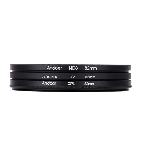 Andoer 82mm UV+CPL+ND8 Circular Filter Kit Circular