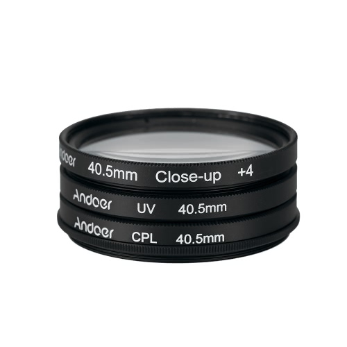 Andoer 40.5mm UV+CPL+Close-Up+4 Circular Filter Kit Circular