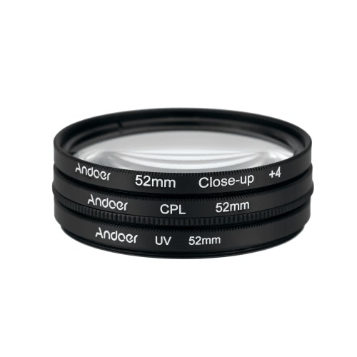 Andoer 52mm UV+CPL+Close-Up+4 Circular Filter Kit Circular
