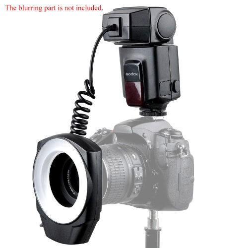 Godox ML-150 Macro Ring Flash Light Guide Number 10 with 6 Lens Adapter Rings for Canon Nikon Pentax