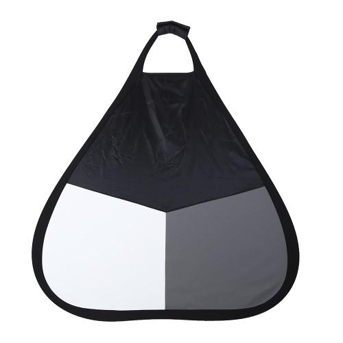 Triangular Color Balance Panel Grey Card Silver Reflector w/Grip 80cm/31.5Reflectors<br>Triangular Color Balance Panel Grey Card Silver Reflector w/Grip 80cm/31.5<br><br>Blade Length: 33.5cm