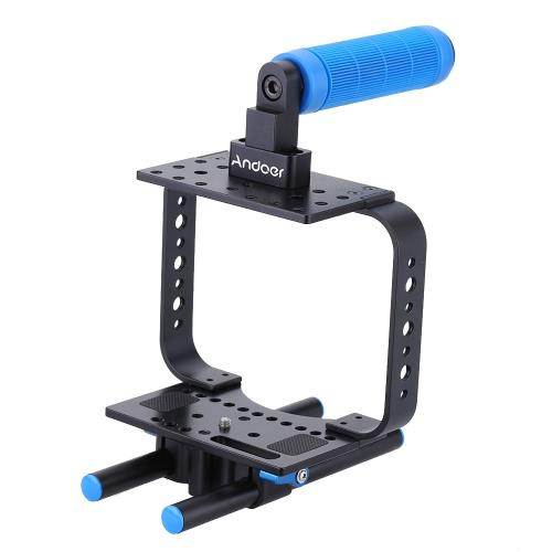 Andoer Lightweight Wrap-around DSLR Camera Cage Rig for BMCC BlackMagic Cinema CameraShoulder Rigs for DLSR/DV<br>Andoer Lightweight Wrap-around DSLR Camera Cage Rig for BMCC BlackMagic Cinema Camera<br><br>Blade Length: 21.5cm