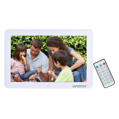 """Andoer 12"""""""" Wide Screen HD LED Digital Picture Frame Digital Album High Resolution 1280*800 Electronic Photo Frame with Remote Control Multiple Functions Including LED Clock Calendar MP3 MP4 Movie Player Support Multiple Languages"""" D4151W-UK"""