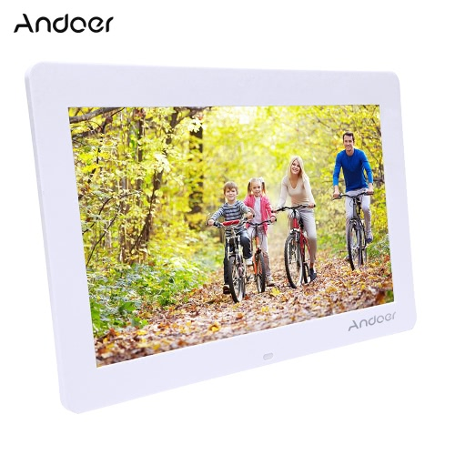 "Andoer 14"""" Wide Screen HD LED Digital Picture Frame Digital Album High Resolution 1280*800 Electronic Photo Frame with Remote Control Multiple Functions Including LED Clock Calendar MP3 MP4 Movie Player Support Multiple Languages"" D4153W-UK"