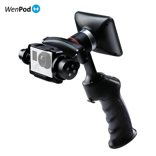 WenPod GP1+ Adventure Camera Stabilizer Digital Stabilizer Handheld Gimbal with 270° Rotatable 3.5 L