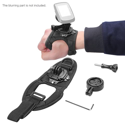 Andoer Glove-style Wrist Hand Strap Mount with Adapter Holder for Garmin Edge Cycle GPS 25 200 500 5