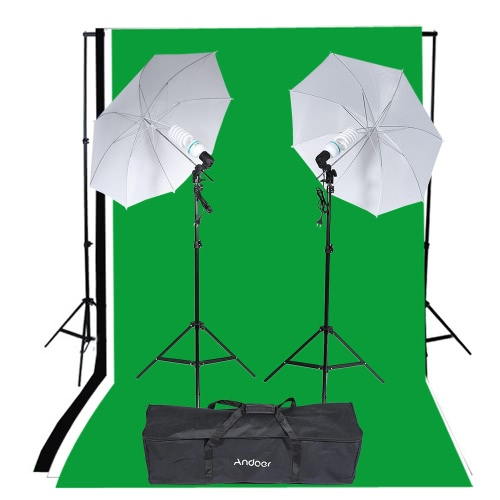 Andoer Photography Studio Portrait Product Light Lighting Tent Kit Photo Video Equipment (2 * 135W Bulb+2 * Bulb Holder+2 * Reflective Shooting-through Umbrella+3 * Backdrops+1* Backdrop stand+2 * Tripod Stands+1* Carrying Bag)Studio Light Shed Kits<br>Andoer Photography Studio Portrait Product Light Lighting Tent Kit Photo Video Equipment (2 * 135W Bulb+2 * Bulb Holder+2 * Reflective Shooting-through Umbrella+3 * Backdrops+1* Backdrop stand+2 * Tripod Stands+1* Carrying Bag)<br><br>Blade Length: 80.0cm